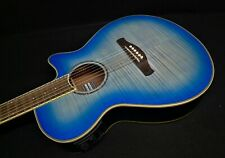 Ibanez Aeg19Ii Obb Acoustic-Electric Guitar Fishman Ocean Blue Burst Flame Maple