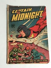 Captain Midnight #66 Alien cover Fawcett Comics 1948 GD-
