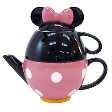 ❦ Disney Minnie Mouse porcelain Tea Set Tea pot and mug cup pink Tea for One ❦
