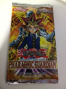 Yugioh PHARAONIC GUARDIAN (PGD) Sealed Booster Unlimited MINT 1 RARE PER PACK