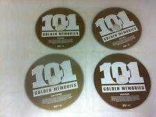 101 Golden Memories 4 Disc Music CD 2009 Various Artists - DISCS ONLY in Sleeves