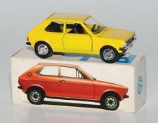 SCHUCO Nº 301623, SCALE 1:43 - VW poli jaune dans VW-Publicité Emballage