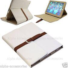 De Lujo Piel BOTONES FLIP Correa Funda con Soporte Smart para Apple iPad Air 5