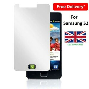 2 in 1 Pack GENUINE TEMPERED GLASS SCREEN PROTECTOR FOR SAMSUNG GALAXY S2