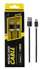 iPhone 5 6 7 SE Metallic Data Cable Lead USB Charger Lighting Sync Charging 1m