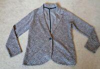 George Jersey Leopard Print Blazer Jacket Size 16 New Without Tags