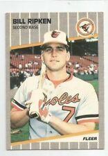 FREE SHIPPING! 1989 Fleer Billy Ripken #616 Black Box Error Baseball Card Rookie
