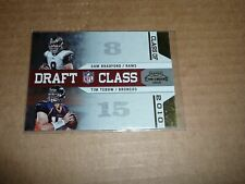 2010 Playoff Contenders SAN BRADFORD/TIM TEBOW CLASS OF 2010 GOLD /100 S2569