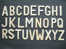 Wooden upper case alphabet large letters templates stencils one full alphabet
