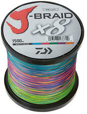 DAIWA J Braid x 8 Multi-coloured 1500M 50 LB Spool BRAND NEW