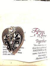 "Heart Pin/Brooch in Antique Silver Plate w/ head approx.25"" swarovski crystal"