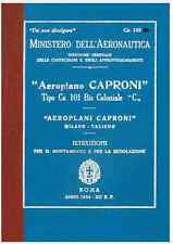 CAPRONI Ca101 1934 CA125 Bis  AERONAUTICA AIRCRAFT Manual - DVD