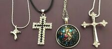Christian Crosses and Religious Necklaces Madonna Christ Crucifix
