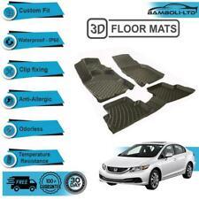 3D Floor Mats Liner Interior Protector Fit for Honda Civic Sedan 2012-20016