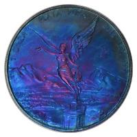 Mexico 2015 Mo Silver ( Art. Toned ) ANACS MS60 1 Onza Libertad Mexican  Coin