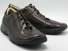 STEVE MADDEN sz 17 Mens Brown Leather Oxford Lace Up Shoes Boarder