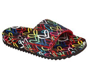 Skechers x J Goldcrown NEW Pop Ups 2 Love & Summer heart print slide sandals 3-9