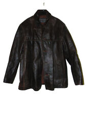 Pre Owned Brown Limited Leather Heavy Leather Lined Jacket Size 1x