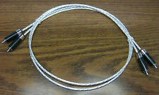 RCA Carbon Fiber Rhodium  Audiophile Interconnect Cable 1m Silver Plated PTFE
