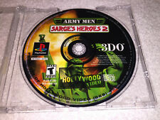 Army Men: Sarge's Heroes 2 (PlayStation PS1) Black Label Game in Plain Case Nice