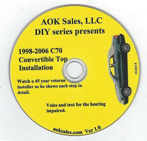 Volvo C70 1998-2006 How To Install a Convertible Top DIY Video DVD