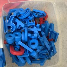 Alpha Magnets Letters & Numbers, 126 Red Blue Magnetic Pieces