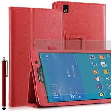 Funda para Samsung Galaxy Tab Pro (T320) - 8,4'' - Rojo + lápiz + protector
