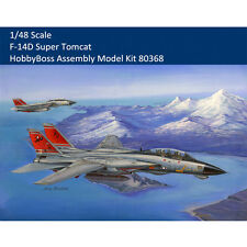 HobbyBoss 80368 1/48 US F-14D Super Tomcat Fighter Assembly Aircraft Model Kits