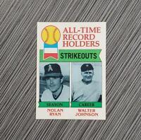 1979 Topps #417 Nolan Ryan/Walter Johnson | PSA Worthy: NM-MT+
