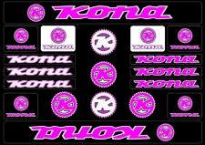 KONA Bicycle Bike Frame Decals Sticker Adhesive Graphic Vinyl Aufkleber Pink