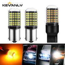 1Pair Led Bulb 3014 144smd CanBus 1156 BAU15S PY21W Turn Signal Light 12V Amber