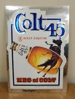 "VINTAGE COLT 45 MALT LIQOUR KEG OF COLT STICKER 6"" X 4.5"" RARE FIND"