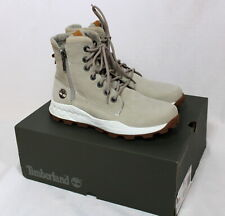 NEW Timberland Men's Boots Brooklyn Size Zip Light Taupe A1YMKK51 (Size 8.5)