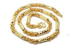 "Superb HEAVY BIG Men Mix Chain 26.5"" Baht Necklace 24K Gold GP Thai Jewelry GT52"