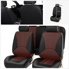 9PCS PU Leather Seat Protect Cover Full Set Wear Resistant Universal Fit For Car