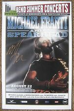Signed MICHAEL FRANTI Spearhead POSTER In-Person Gig w/proof Autograph Concert