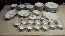 HARVEST GOLD SANGO CHINA SET MADE IN JAPAN 12 PIECE PLACE SETTING 82 PIECE