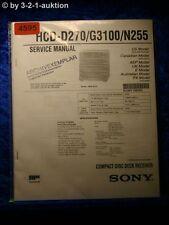 Sony Service Manual HCD D270 /G3100 /N255 CD Receiver (#4595)