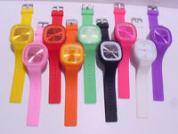 Jelly Wrist Watch Multicolor Silicone Sports  green,red,pink, yellow, purple, o