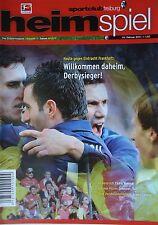 Programm BL 2010/11 SC Freiburg - Eintracht Frankfurt
