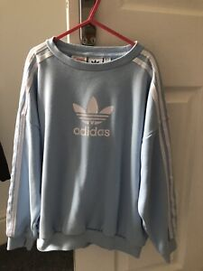 Adidas Jumper Pale Blue Age 9-10