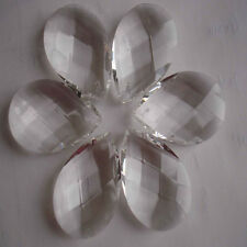 10X Clear Loose Beads Chandelier Glass Crystals Lamp Prisms Parts Hanging Drop