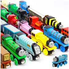 TOYS 12pcs/lot THOMAS and FRIENDS Anime Wooden Railway Trains BABY Light Kids