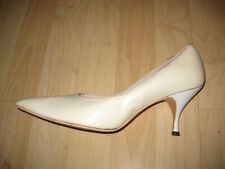 Vintage 1960s White Patent Leather Kitten Heel Pumps White Size 8-8.5