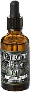 APOTHECARY87 ORIGINAL RECIPE BEARD OIL 50ML - HARDLY USED 95% FULL #1