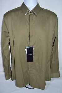 GIVENCHY Man's Casual Shirt w/ Metal Clasps NEW Size 41  Large Retail $420