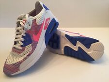 NEW Nike Air Max 90 ULTRA 2.0 FLYKNIT SIZE WMNS 6 Pink Blue White (881109 103)