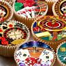24 icing fairy cake toppers decorations edible ND3 Vegas casino gambling poker