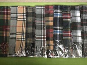 Plaid Check Tartan Luxurious Soft Cashmere Feel Unisex Winter Scarf Scarves