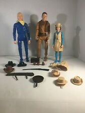 Vintage Louis Marx Johnny West, Western Action Figures Lot with Some Accessories